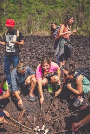 roasting marshmallows. on a volcano. best.marshmallows.ever.